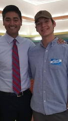 Hamilton County Clerk of Courts Aftab Pureval, a Democrat who ran for Congress in 2018, and campaign volunteer Jack Dohrenwend. Dohrenwend was accused of illegally infiltrating Republican Rep. Steve Chabot's campaign.