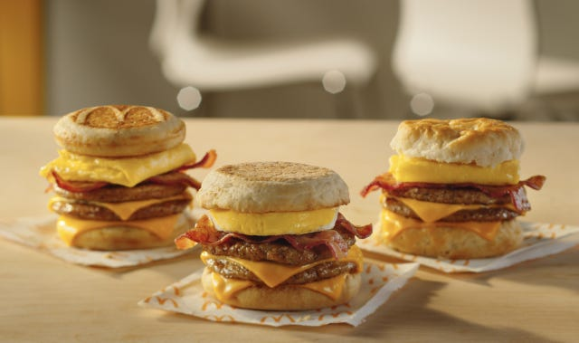 McDonald's Triple Stack sandwiches