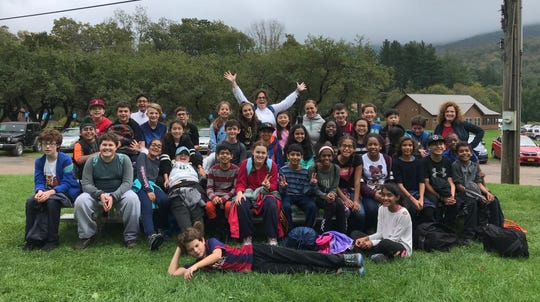 The Wardlaw+Hartridge sixth graders explore nature in Frost Valley, New York