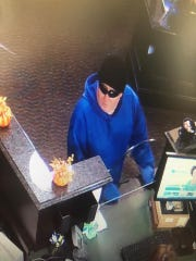Authorities have released this surveillance photo of the suspect in Wednesday's morning bank robbery in Flemington.