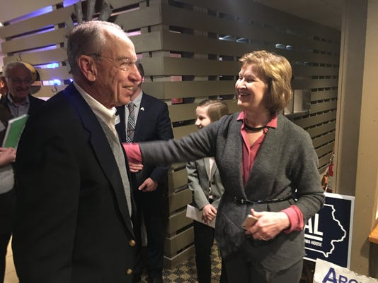 Grassley And State Director Carol Olson Oct 24 2018