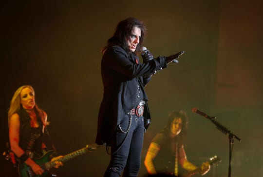 Rock and roll legend Alice Cooper performed on Tuesday, Oct. 23, 2018, at the Civic Center in Des Moines.