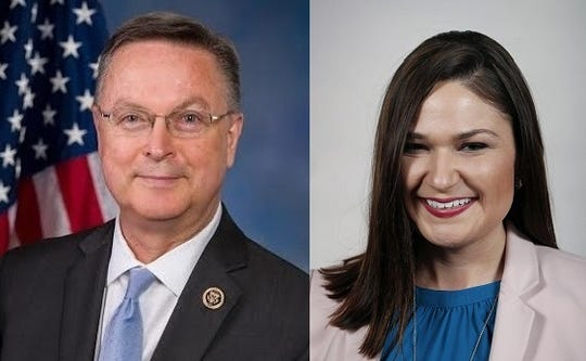 Rep. Rod Blum and Abby Finkenauer