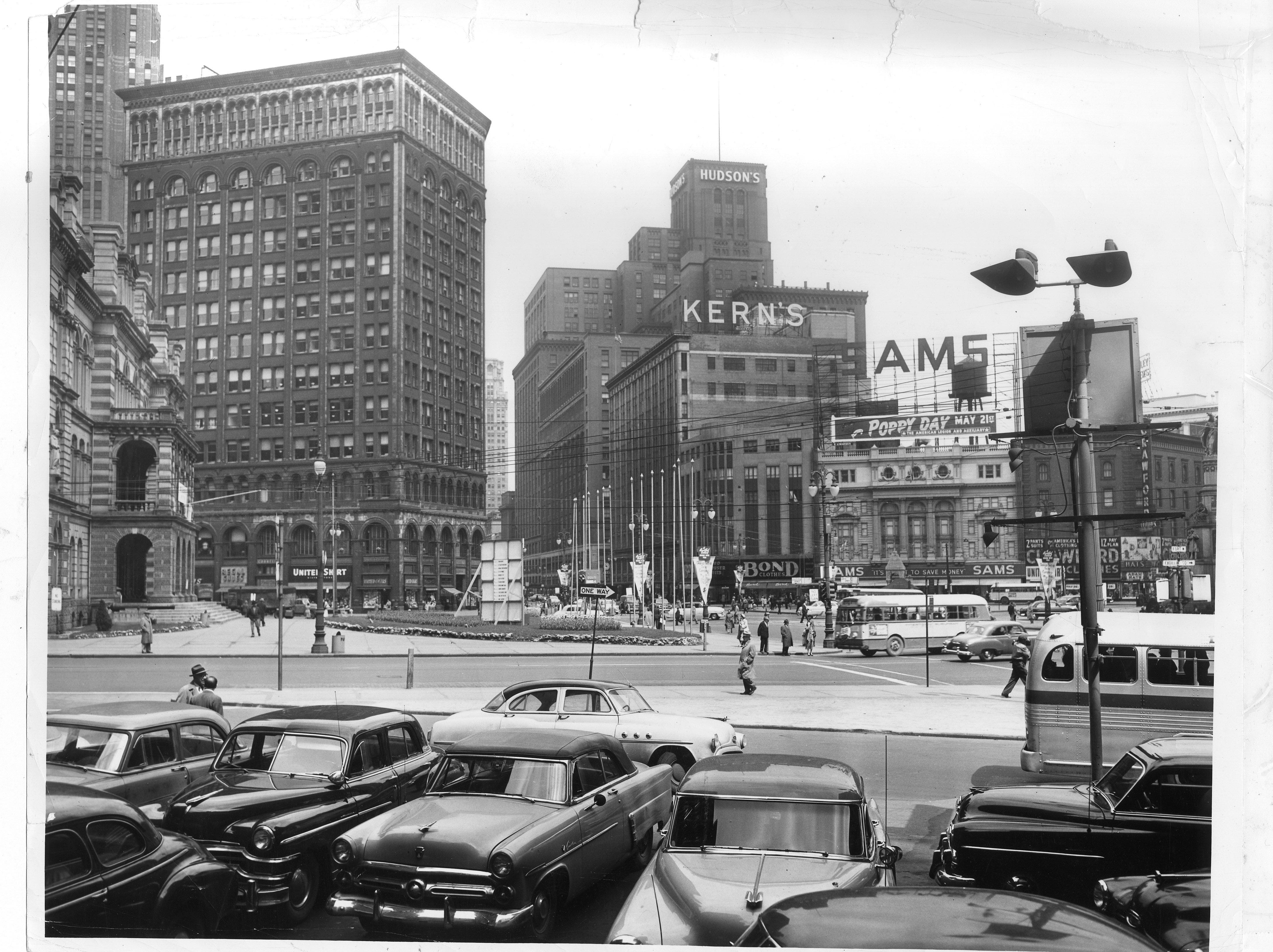 Detroit Cityview of Kern's & Hudson's