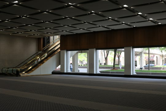 Potential retail space in Cadillac Place in Detroit's New Center district.