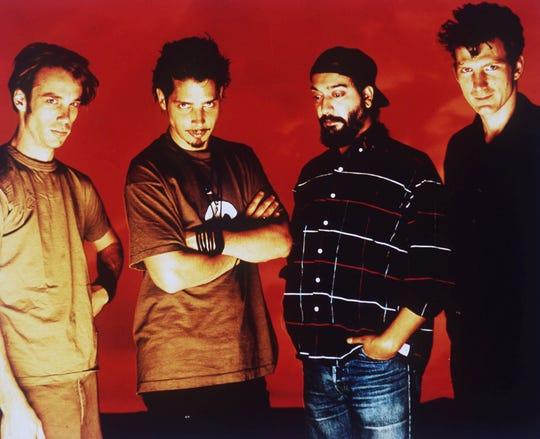 The rock band Soundgarden, in 1994, from left: Matt Cameron, Chris Cornell, Kim Thayil, and Ben Shepherd.
