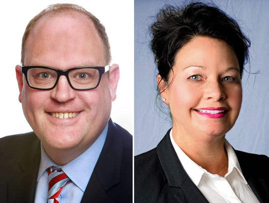Democratic candidate Fred Miller and Republican candidate Lisa Sinclair are running for the Macomb County clerk position.