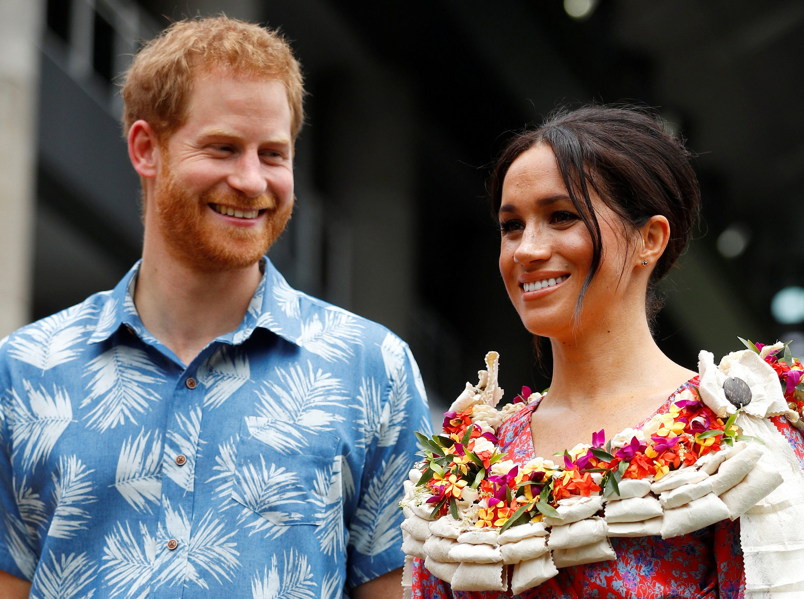 Prince Harry, Duke of Sussex and Meghan, Duchess of Sussex visit the University of the South Pacific on October 24, 2018 in Suva, Fiji. The Duke and Duchess of Sussex are on their official 16-day Autumn tour visiting cities in Australia, Fiji, Tonga and New Zealand.