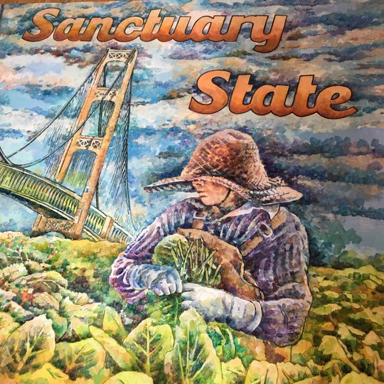 """Sanctuary State"" (detail) by Nicole Macdonald at the Janice Charach Gallery."