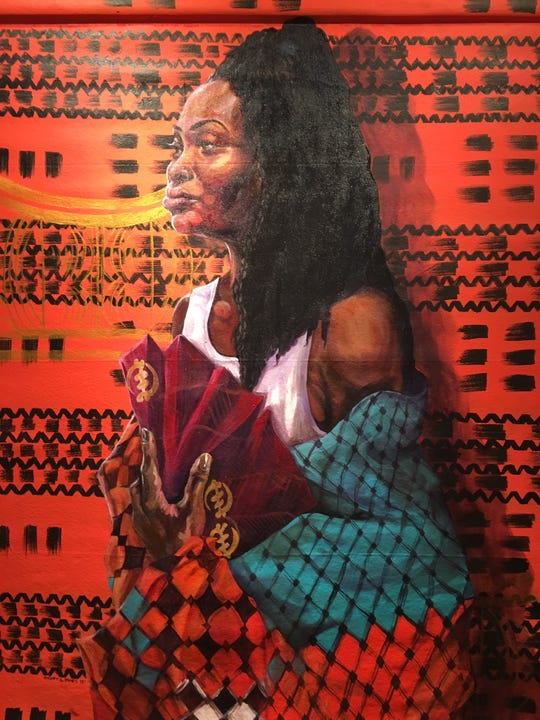 """""""Reclamation: She Who Knows"""" by Sydney G. James at the Janice Charach Gallery."""