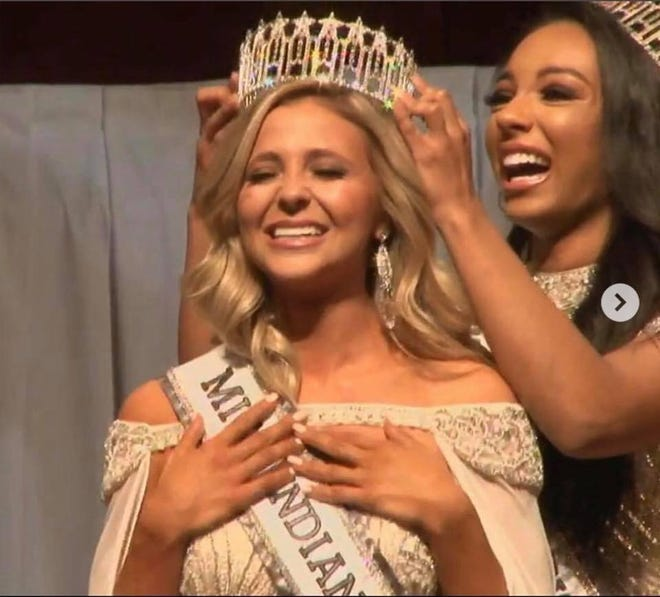 Tate Fritchley was crowned Miss Indiana USA over the weekend.