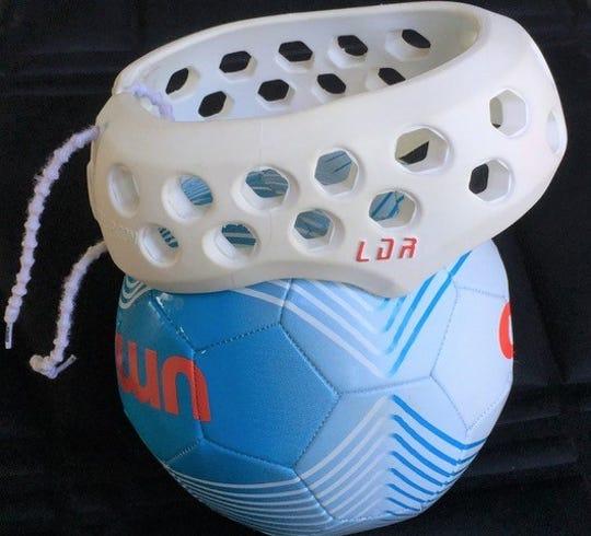 LDR Headgear, LLC's soccer headband.
