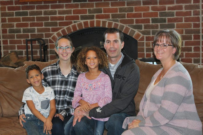 The Anstead family, Curt and Bobbie, far right, with children Nakyah, middle, Emily, left and Mekhi, far left.