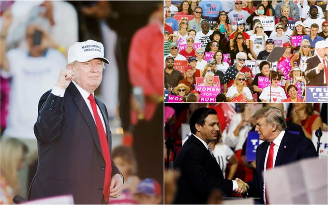 President Donald Trump is expected to attend a Make America Great Again rally in Southwest Florida on Wednesday, Oct. 31. The rally will be at Hertz Arena, formerly Germain Arena, in Estero. The doors open at 4 p.m., and the rally begins at 7 p.m. The rally supports gubernatorial candidate Ron DeSantis and other Republicans for the midterm elections Nov. 6.