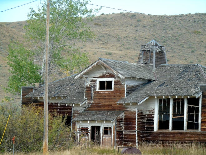 Montague in Chouteau County once had a school, garage, clubs and more. Not much is left now.