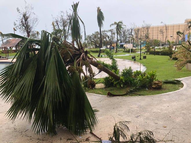 Scene outside of the Fiesta Resort on Saipan