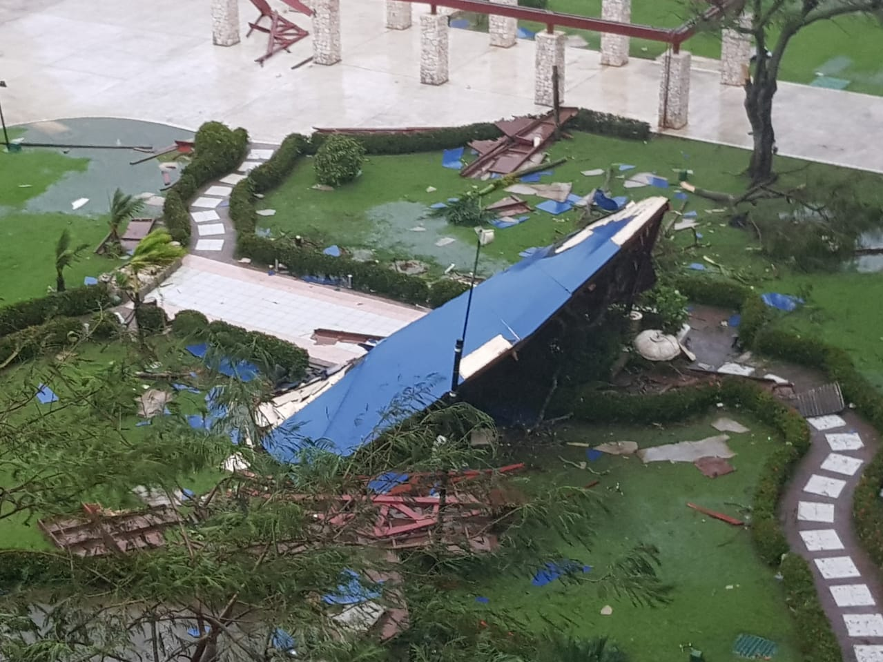 Damage from Super Typhoon Yutu on Saipan
