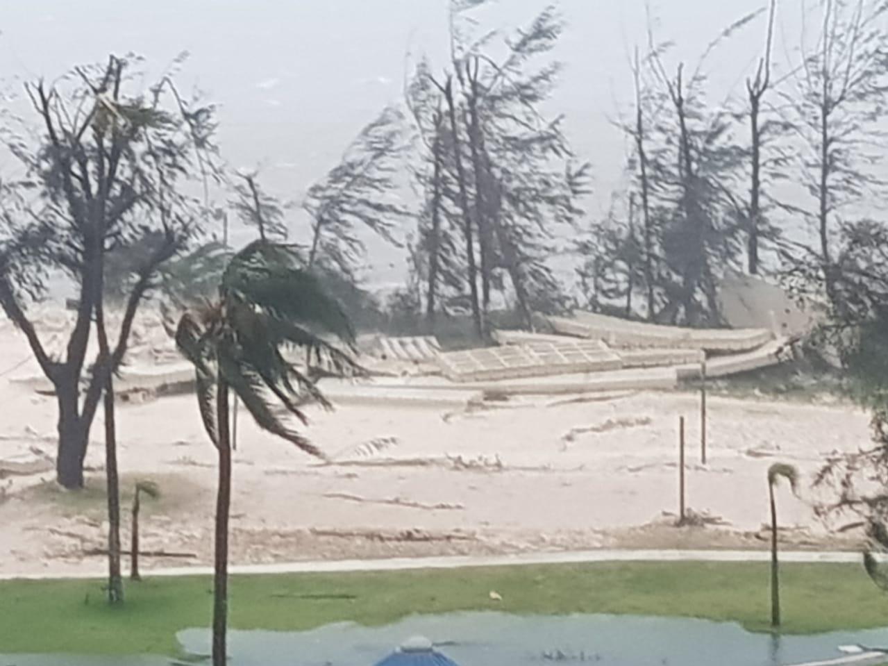 Damage at the Fiesta Resort on Saipan