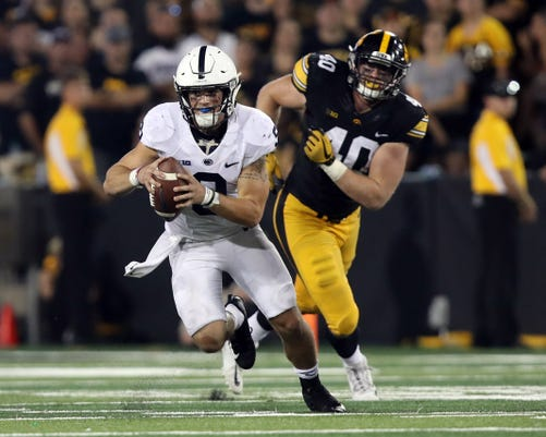 Ncaa Football Penn State At Iowa