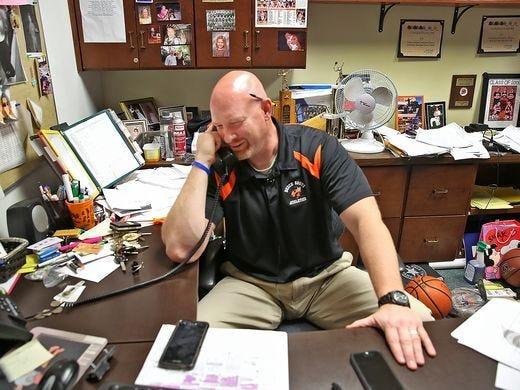Beech Grove basketball coach Matt English is battling brain cancer for a third time.
