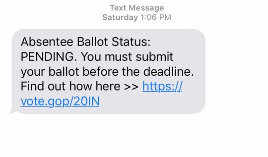 Political campaigns are using text messages to communicate with voters.