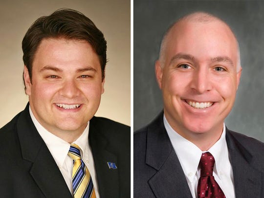 Democrat J.D. Ford, left, and Republican Mike Delph, candidates for the 29th district in the Indiana State Senate.