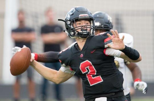 North Central quarterback Liam Thompson.