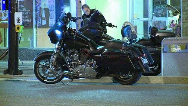 Two off-duty IMPD officers on motorcycles were arrested Monday night in the the 1000 block of Virginia Ave. on suspicion of drunken driving.