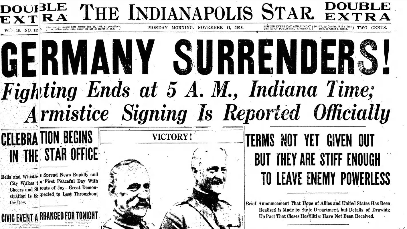Retro Indy 1918 Revelry In Indianapolis On Armistice Day