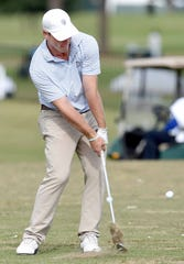 Jackson Academy alum Wilson Furr works on his game at the driving range on Wednesday, October 24, 2018, at the Sanderson Farms Championship at the Country Club of Jackson in Jackson, Miss.