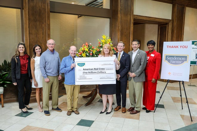 Joe Sanderson, CEO and chairman of the Board of Sanderson Farms, pledged a total of $1 million in aid to the American Red Cross for ongoing relief efforts in the aftermath of Hurricanes Florence and Michael.