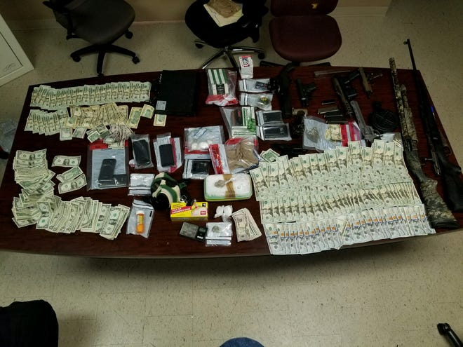 Jackson police seized drugs valued at about $60,000 from a Jackson apartment during a drug bust Tuesday night.