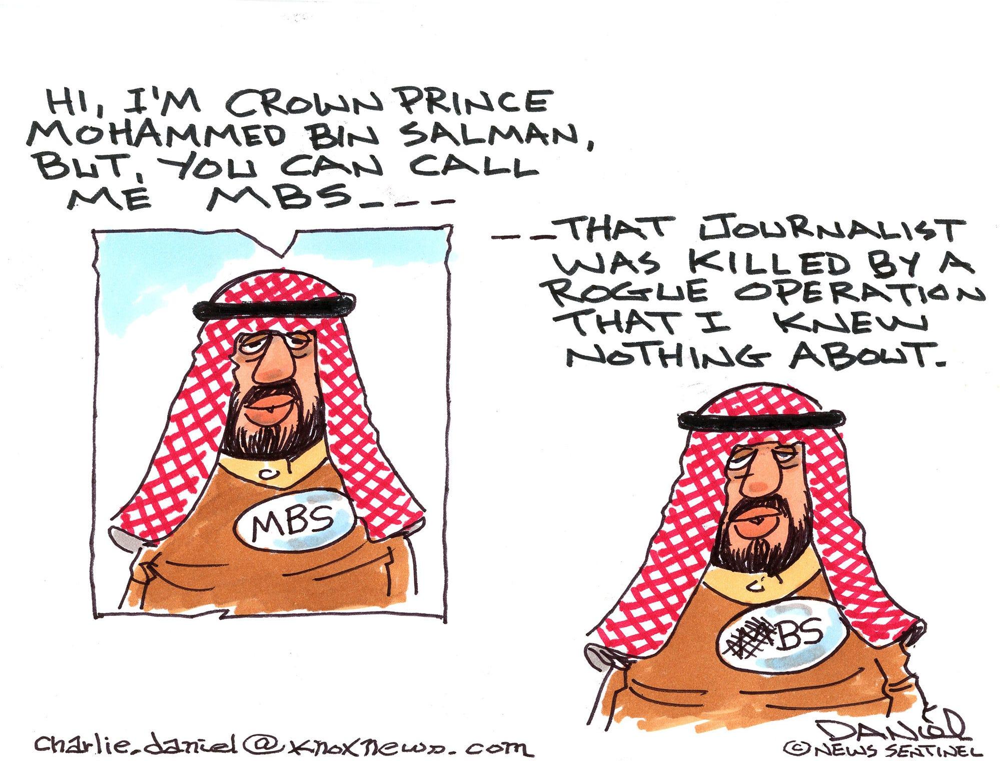 Charlie Daniel editorial cartoon for Thursday, Oct. 25, 2018.