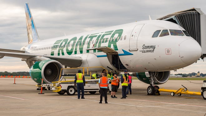 Lafayette Regional Airport celebrates the first direct flight on Frontier airlines from Lafayette Regional Airport to Denver, CO.  Wednesday, Oct. 24, 2018.