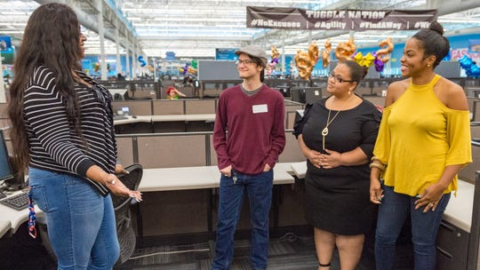 AT&T holds job fair at Call Center in Lafayette, LA. Wednesday, Oct. 24, 2018.