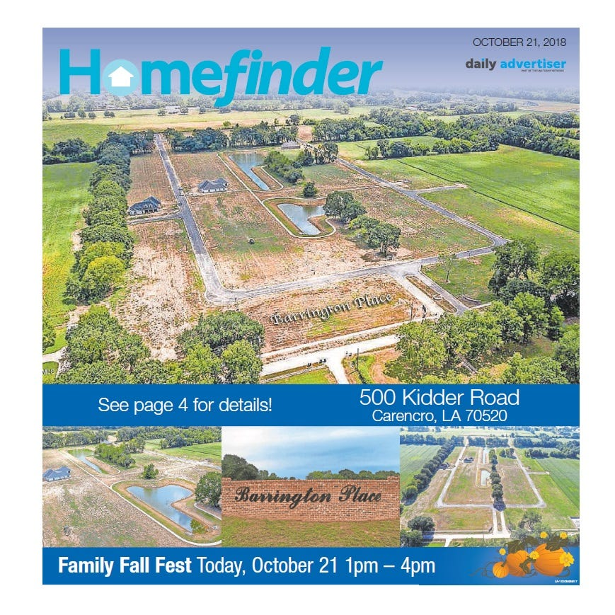 Homefinder: Oct. 21, 2018