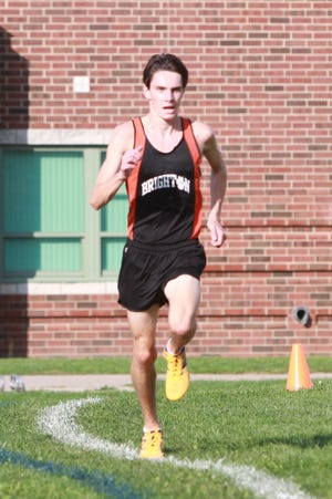 Brighton's Zach Stewart has the fastest cross country time ever in Livingston County with a 15:08.