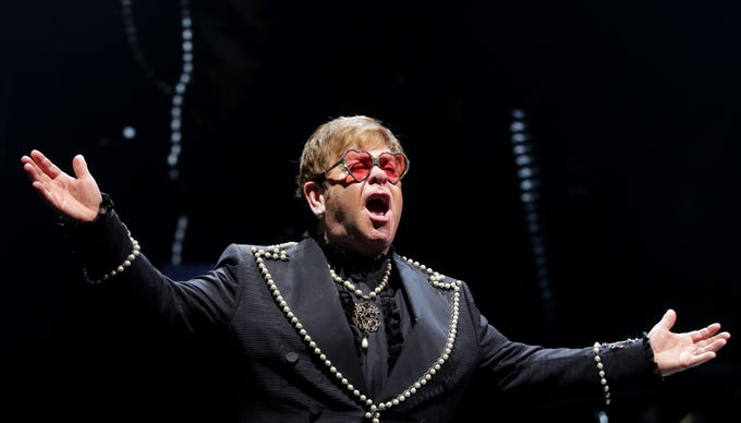 Elton John plays the KFC Yum Center for his Farewell Yellow Brick Road tour. Check back with courier-journal.com on Monday for a review by Jeffrey Lee Puckett and more pictures.  Oct. 23, 2018