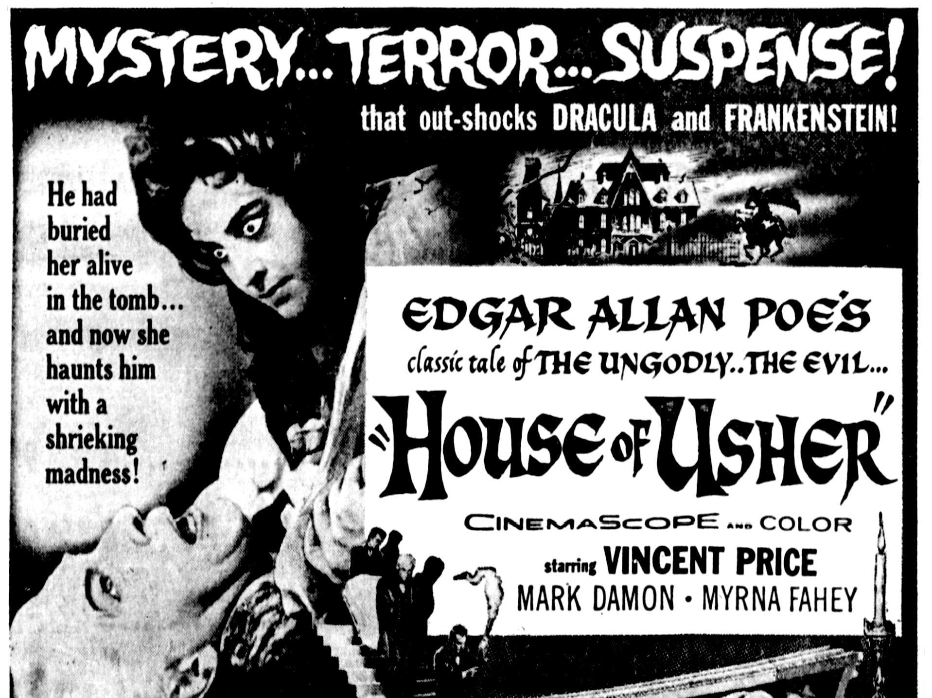 """""""House of Usher,"""" Thursday, Sept. 22, 1960"""