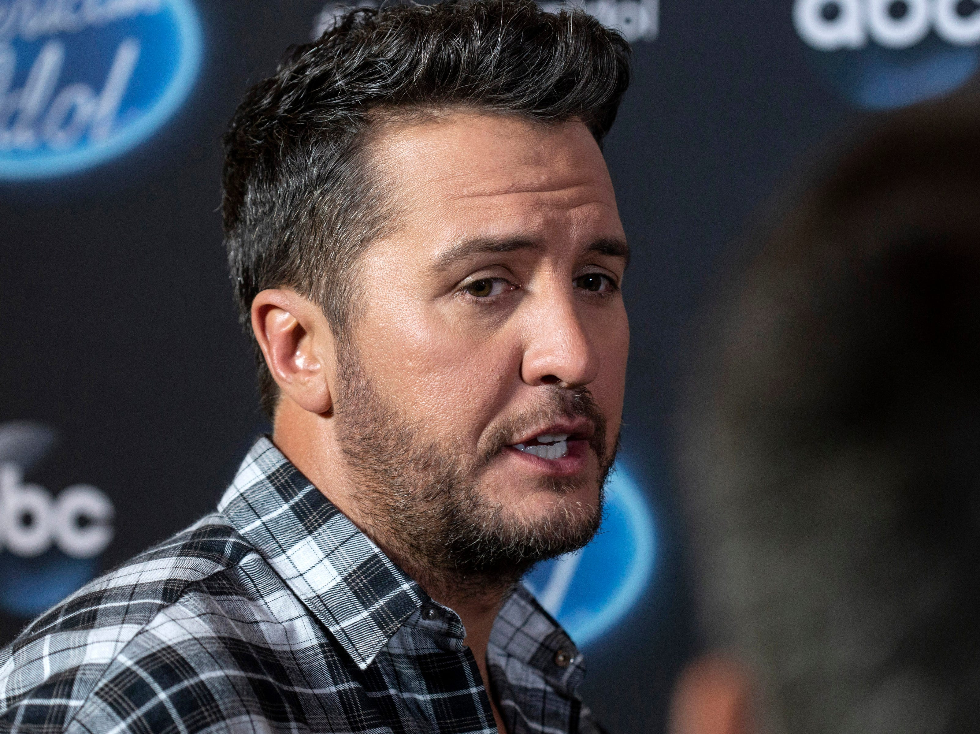 Country music star Luke Bryan spoke to the media on Tuesday night at the Ali Center during a break from his role as a judge on the TV show American Idol in Louisville, Ky. 10/23/18