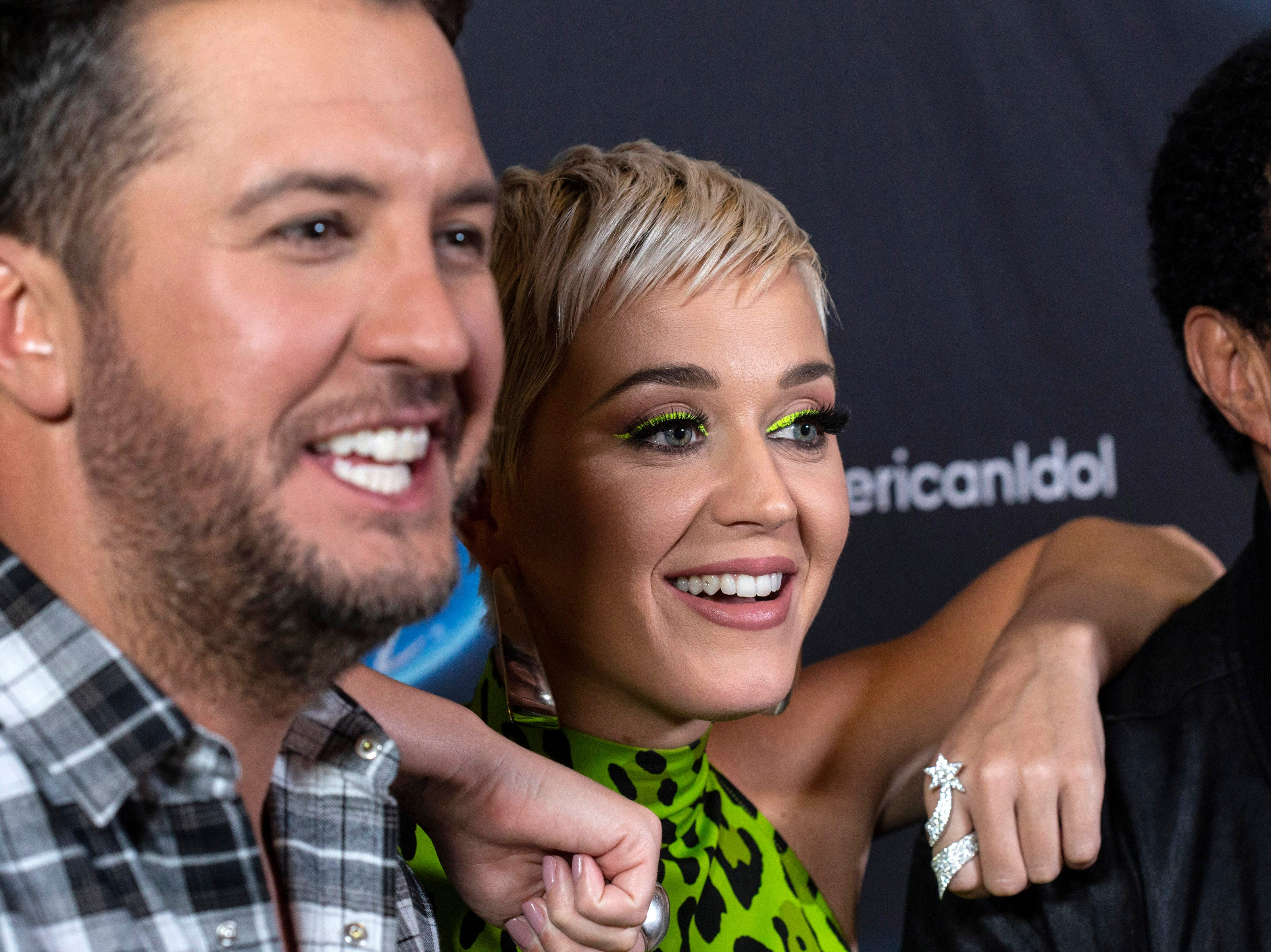 American Idol judges Luke Bryan, Katy Perry and Lionel Richie took a break at the Ali Center during Tuesday night auditions to speak to the media in Louisville, Ky. 10/23/18