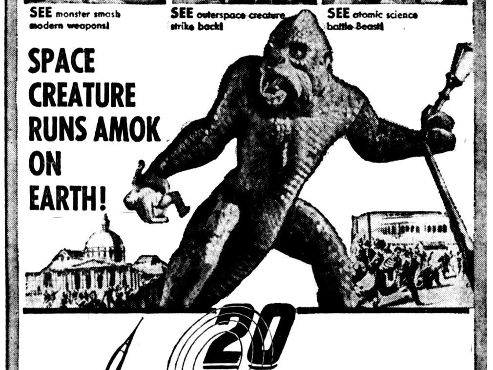 """20 Million Miles to Earth,"" Sunday, June 9, 1957"