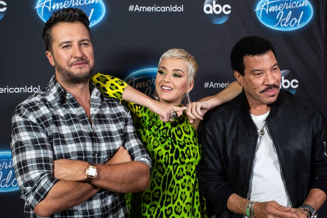 American Idol judges Luke Bryan, Katy Perry and Lionel Richie took a break at the Ali Center during Tuesday night auditions to speak to the media in Louisville, Ky 10/23/18