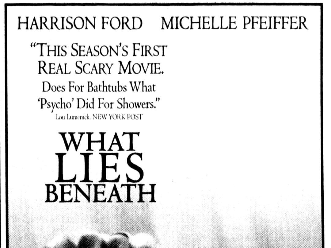 """What Lies Beneath,"" Sunday, July 20, 2000"