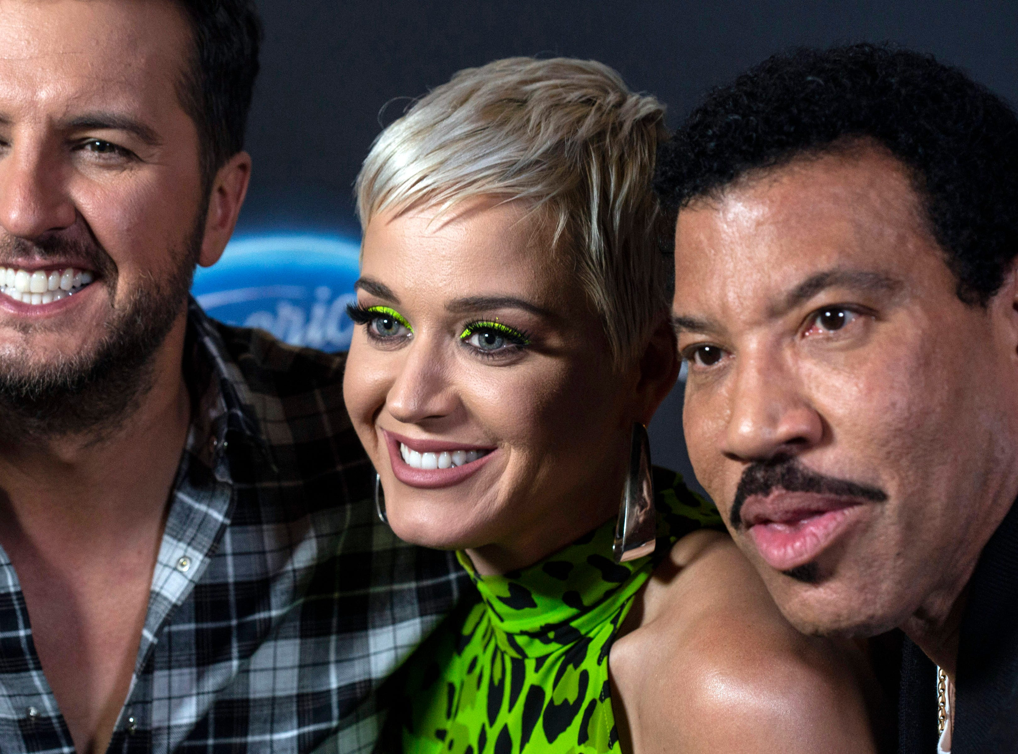 American Idol judges Luke Bryan, Katy Perry and Lionel Richie took a break at the Ali Center during Tuesday night auditions to speak to the media in Louisville, Ky. 