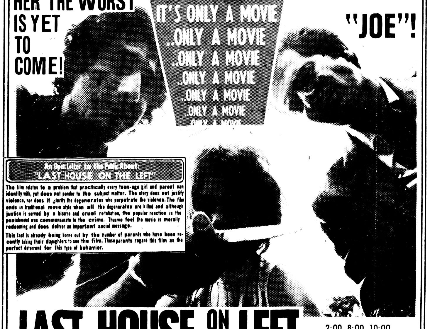 """""""Last House on the Left,"""" Friday, Oct. 27, 1972"""