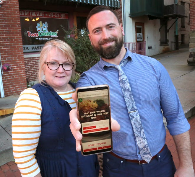 Kelly Gibson and Kylie Miller are the co-owners of Grub2You, a food delivery service.