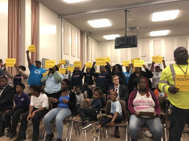Memphis Delta Prep families fight to keep their school open during a Shelby County Schools board meeting on Tuesday.