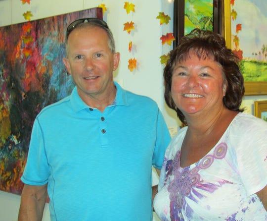Visiting from Cedar Rapids, Iowa were Pamela and James O'Neill.