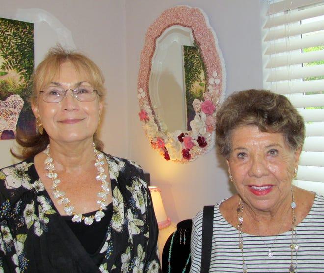 Artist Bonnie Hauke talks to Erestine Capone about her shell art.